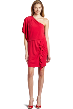 Jessica Simpson Dresses -  Jessica Simpson Women's Single Drape Sleeve Mini Dress Barberry