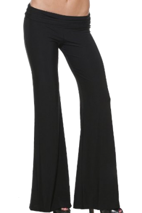 Hot from Hollywood Pants - LONG LOW CUT GAUCHO PALAZZO Black ...