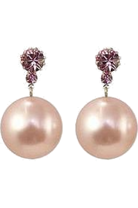 Liara Silvestri Earrings -  Liah - Brincos De Prola Rosa