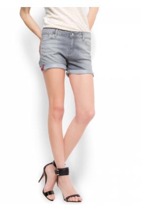 Grey Denim Shorts Womens
