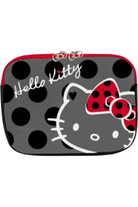 Hello Kitty Bag -  Polka Dot Hello Kitty 13 inch Laptop Sleeve