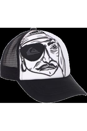 Quiksilver Cap -  Quiksilver Boys 2-7 Stavi Kids Trucker Hat Black/White