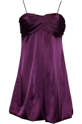 PacificPlex Dresses -  Satin Prom Bubble Mini Holiday Gown Party Formal Cocktail Dress Bridesmaid Purple