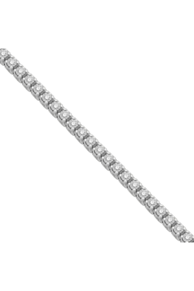 D-GOLD Bracelets -  Sterling Silver Round Diamond Tennis Bracelet (0.50 cttw)