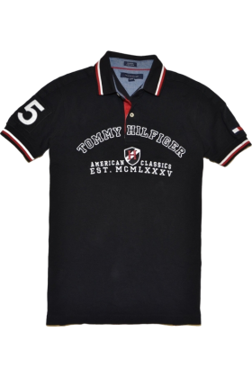 Tommy Hilfiger Mens Custom Fit Logo Polo Shirt