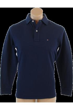 Tommy hilfiger long sleeves shirts tommy hilfiger mens for Navy blue color shirt