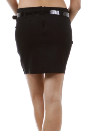 Hot from Hollywood Röcke - Womens Casual Party Versatile Belted Fitted Pencil Mini Skirt.