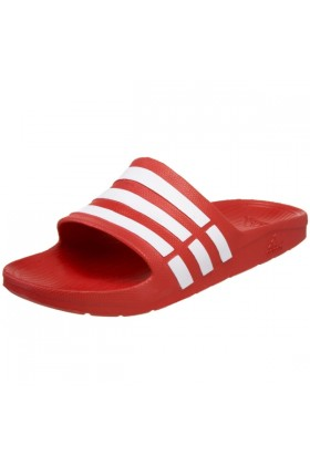 adidas Sandals -  adidas Duramo Slide Sandal Collegiate Red/White/Collegiate Red