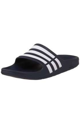 adidas Sandals -  adidas Duramo Slide Sandal New Navy/White/New Navy