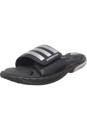 adidas Sandals -  adidas Men's Superstar 3G Slide Sandal Black/Metallic Silver/Solid Grey