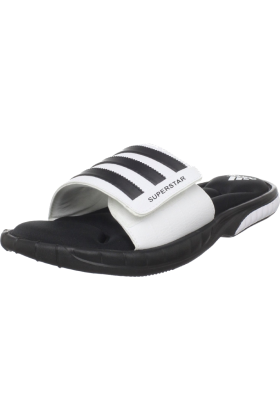 adidas Sandals -  adidas Men's Superstar 3G Slide Sandal Black/White/Black