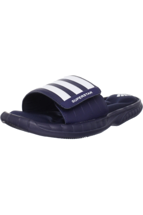 adidas Sandals -  adidas Men's Superstar 3G Slide Sandal Collegiate Navy/White