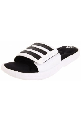 adidas Sandals -  adidas Men's Superstar 3G Slide Sandal White/Black1/Metallic Silver