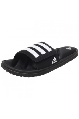 adidas Sandals -  adidas Men's Zeitfrei FitFOAM Slide Black/White/Black