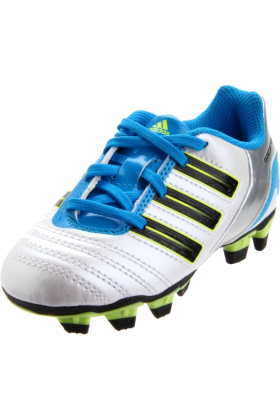 adidas Sneakers -  adidas Predito_X TRX FG Soccer Cleat (Toddler/Little Kid/Big Kid) Predator Running White Metallic/Black/Predator Sharp Blue Metallic