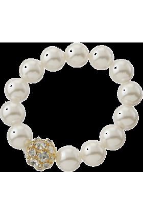 DURAS(デュラス) Bracelets -  1連パール×ストーンブレス小
