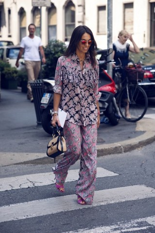 Pajama street style - Prints and patterns!