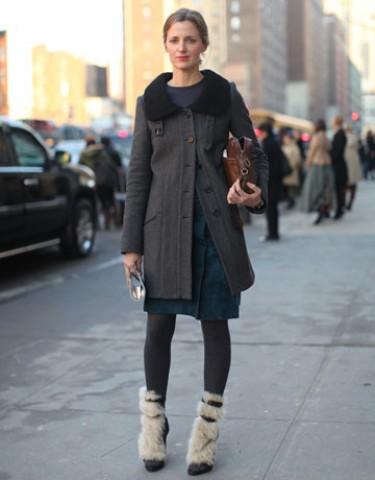 Женские ботинки с мехом, с чем носить