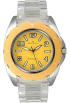 AK Anne Klein Watches -  AK Anne Klein Transparent Bracelet Yellow Dial Women's watch #10/9641YLCL