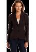 AK Anne Klein Jacket - coats -  AK Anne Klein Women's Petite Classic Blazer Chocolate