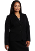 AK Anne Klein Jacket - coats -  AK Anne Klein Women's Plus-Size Classic Blazer Black