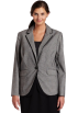 AK Anne Klein Jacket - coats -  AK Anne Klein Women's Plus Size Glen Plaid Blazer Black/Sugar