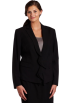 AK Anne Klein Jacket - coats -  AK Anne Klein Women's Plus Size Zip Front Blazer Black