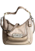 COACH Bag -  Coach Kristen Leather Embossed Python/Croc Spectator Hobo Bag 16803 Ivory