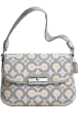 COACH Bag -  Coach Signature Op Art Ikat Top Handle Pouch Bag Purse 45376 Grey Multi