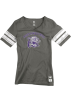adidas T-shirts -  Northwestern Wildcats Women's Grey adidas Originals Vintage Mascot Football Jersey T-Shirt
