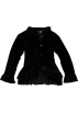 Amazon.com Kurtka -  Blue Pearl Girls 2-6x Stretch Velour Ruffle Jacket Black