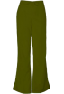 Amazon.com Pants -  Cherokee 4101 Low Rise Flare Scrub Pant Olive