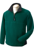 Chestnut Hill Pullovers -  Chestnut Hill Men's Polartec Colorblock Quarter Zip Pullover. CH970 Darkest Green/Black