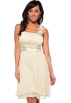 Hot from Hollywood  -  Designer Gathered Empire Flowy Evening Prom Party Dress