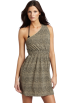 Amazon.com Kleider -  Echo Design Women's Cheetah One Shoulder Dress Khaki