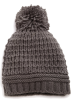Amazon.com Cap -  Echo Design Women's Icelandic Patchwork Texture Pom Hat Grey Heather