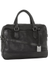 Frye Hand bag -  Frye James Work Zip Tumbled Full Grain DB116 Briefcase Black