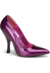 Pin Up Couture Shoes -  Fuchsia Pearlized Glitter Classic Pump - 8