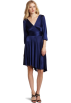 Halston Heritage Dresses -  HALSTON HERITAGE Women's Long Sleeve Wrap Dress Marine