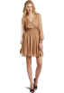 Halston Heritage  -  HALSTON HERITAGE Women's Smocked Dress Khaki
