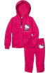 Hello Kitty Track suits -  Hello Kitty Girls 2-6x French Terry Active Set with Embroidery Fuschia Purple