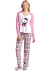 Hello Kitty Пижамы -  Hello Kitty Women's 3 Piece V-Neck Pajama Set with Slipper Light Pink