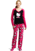 Hello Kitty Piżamy -  Hello Kitty Women's 3 Piece V-Neck Pajama Set with Slipper Pink