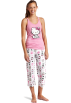 Hello Kitty Piżamy -  Hello Kitty Women's Color Me Pink 2 Piece Pajama Pant Set Light Pink