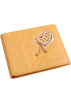 MG Collection Wallets -  Innovative Yellow Heart Embossed w/ Tear Drop Dangle Genuine Leather Credit Card Wallet Organizer