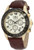 Invicta Relógios -  Invicta Men's 10709 Speedway Chronograph Gold Dial Brown Leather Watch