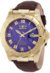 Invicta Zegarki -  Invicta Men's 1711 Pro Diver Elegant Gold-Tone Leather Watch