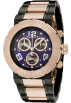 Invicta Relógios -  Invicta Men's 6765 Reserve Collection Chronograph 18k Rose Gold-Plated and Black Stainless Steel Watch
