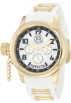 Invicta Watches -  Invicta Women's 1815 Russian Diver White Mother-Of-Pearl Dial White Polyurethane Watch