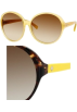 Amazon.com Sunglasses -  Kate Spade Ginette Sunglasses 0JXW Dark Tortoise Yellow (Y6 Brown Gradient Lens)